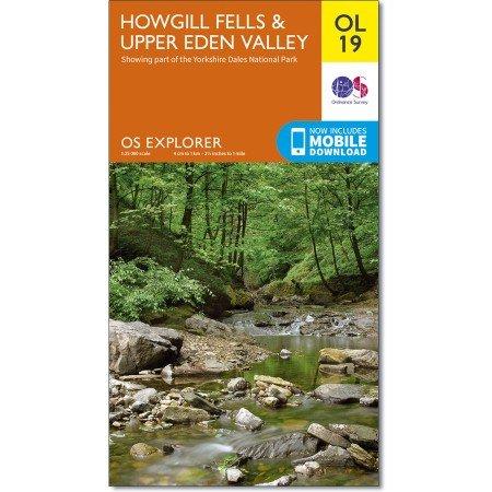 EXP-019  Howgill Fells and Upper Eden Valley | wandelkaart 1:25.000 9780319263341  Ordnance Survey Explorer Maps 1:25t.  Wandelkaarten Lake District