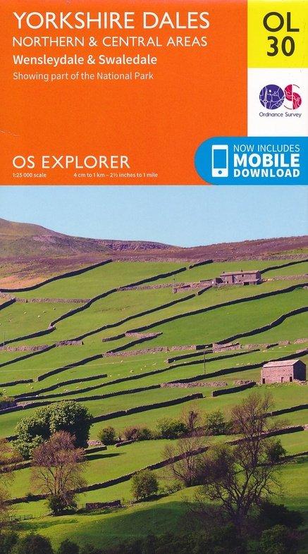 EXP-030  Yorkshire Dales, Northern + Central Area | wandelkaart 1:25.000 9780319263358  Ordnance Survey Explorer Maps 1:25t.  Wandelkaarten Northumberland, Yorkshire Dales & Moors, Peak District, Isle of Man
