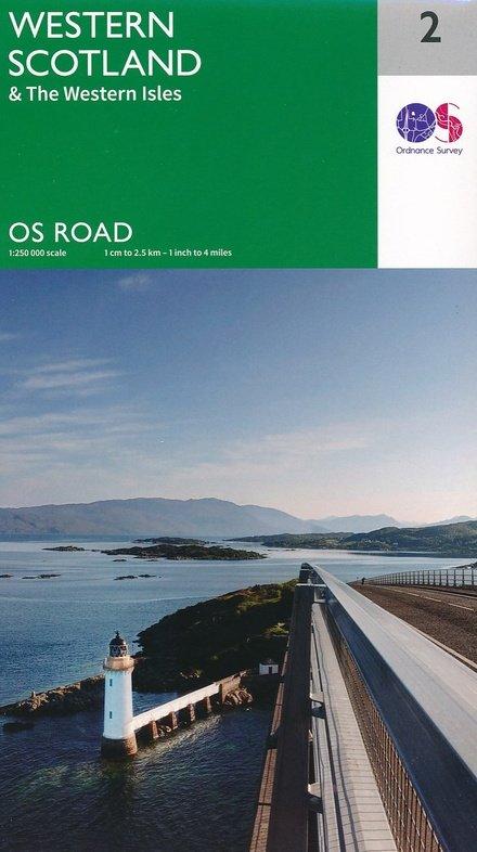 RM-2 Western Scotland, wegenkaart West-Schotland 9780319263440  Ordnance Survey Road Map 1:250.000  Landkaarten en wegenkaarten Schotland