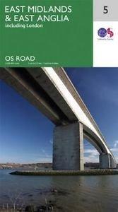 RM-5 East Midlands + East Anglia, wegenkaart 9780319263471  Ordnance Survey Road Map 1:250.000  Landkaarten en wegenkaarten Midden- en Oost-Engeland