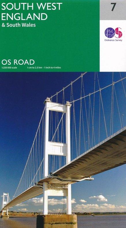 RM-7 South West England + South Wales, wegenkaart 9780319263495  Ordnance Survey Road Map 1:250.000  Landkaarten en wegenkaarten Zuidwest-Engeland