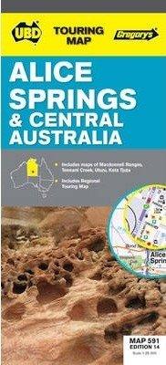 Alice Springs & Central Australia 9780731927029  UBD   Landkaarten en wegenkaarten, Stadsplattegronden Australië