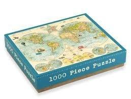 Map of the World 1000 Piece Puzzle 9780735333420  Galison Books   Overige artikelen Wereld als geheel