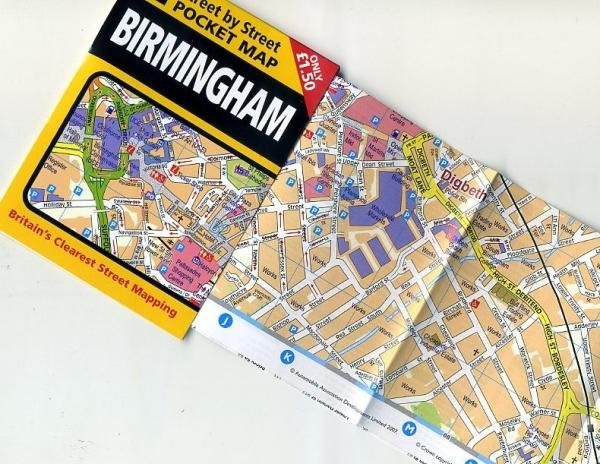 Birmingham pocket map 9780749555610  AA Street-by-street  Stadsplattegronden Midden- en Oost-Engeland