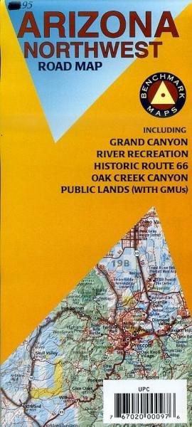 Arizona Northwest Road Map 1: 400.000 9780783498409  Benchmark   Landkaarten en wegenkaarten Colorado, Arizona, Utah, New Mexico