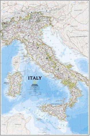 Italy 1:1.760.000 9780792249757  National Geographic NG planokaarten  Wandkaarten Italië