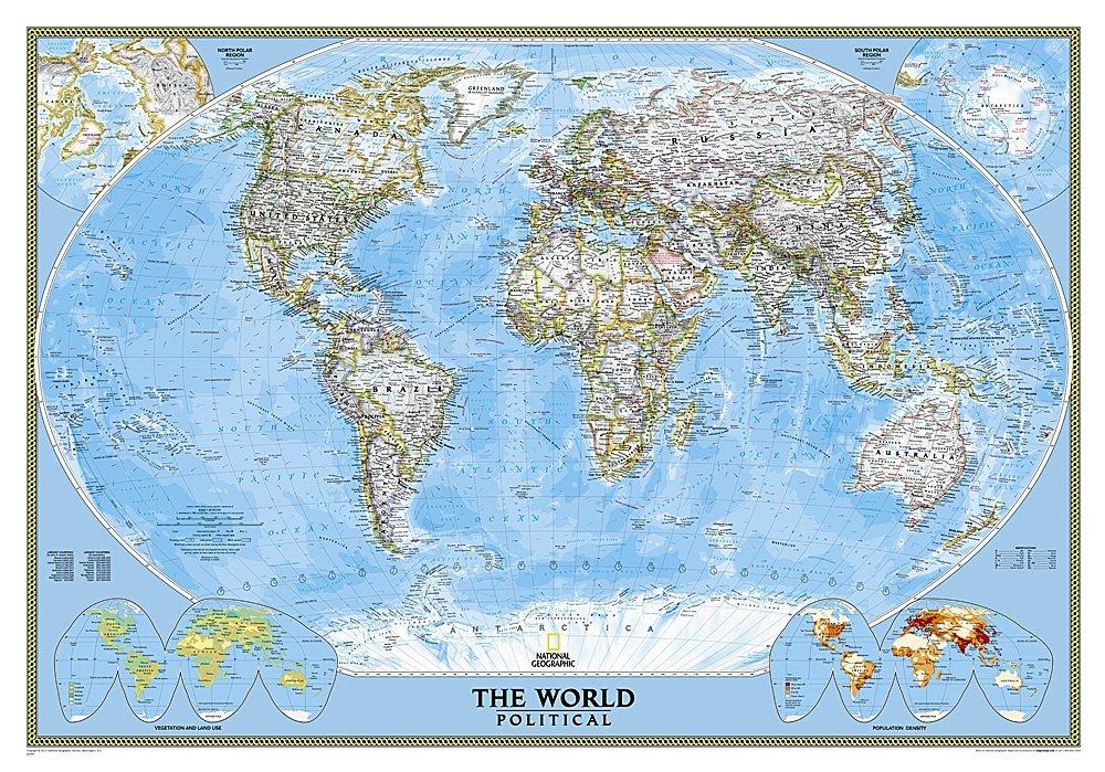 The World 9780792294580  National Geographic NG planokaarten  Wandkaarten Wereld als geheel