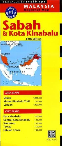 Sabah, Kota Kinabulu 9780794606220  Periplus Periplus Travel Maps  Landkaarten en wegenkaarten Maleisië en Brunei