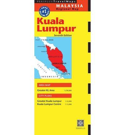Kuala Lumpur + surroundings 9780794607678  Periplus Periplus Travel Maps  Landkaarten en wegenkaarten Maleisië en Brunei