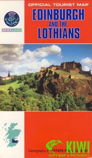 EP 182  Edinburgh + the Lothians 1:150.000 9780860846208  Estate Publications Official Tourist Map  Landkaarten en wegenkaarten Schotland