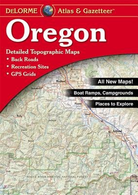 Oregon Delorme Atlas & Gazetteer 9780899333472  Delorme Delorme Atlassen  Wegenatlassen Washington, Oregon, Idaho, Wyoming, Montana