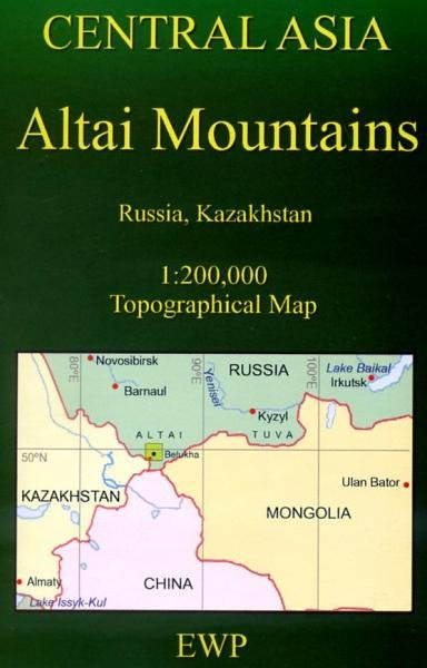 Altai Mountains Map (AM) 1:200.000 9780906227947  EWP   Landkaarten en wegenkaarten Siberië