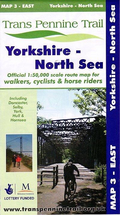 Map 3: East  Yorkshire - North Sea 9780953227792  Trans Pennine Trail Project   Wandelkaarten Northumberland, Yorkshire Dales & Moors, Peak District, Isle of Man