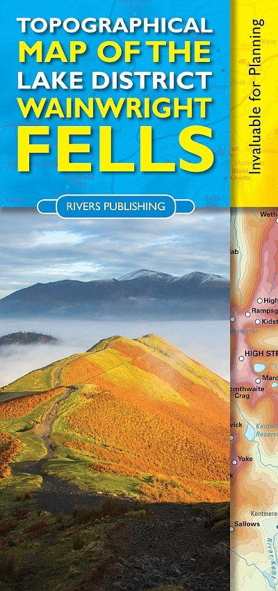 Topographical Map of the Lake District Wainwright Fells 9780955061479  Rivers Publishing   Wandelkaarten Noord-Engeland