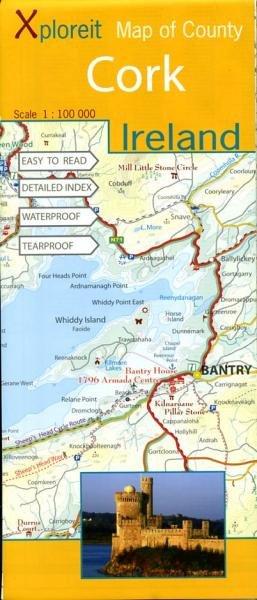 Cork 1:100.000 9780955265525  Xploreit   Landkaarten en wegenkaarten Ierland West- en Zuid