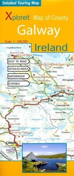 Galway 1:100.000 9780955265532  Xploreit   Landkaarten en wegenkaarten Ierland West- en Zuid