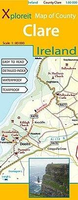 Clare 1:80.000 9780955265549  Xploreit   Landkaarten en wegenkaarten Ierland West- en Zuid