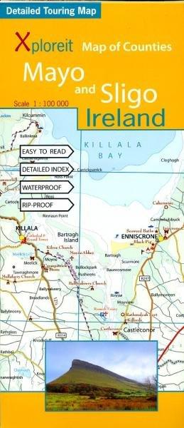 Mayo & Sligo 1:100.000 9780955265556  Xploreit   Landkaarten en wegenkaarten Galway, Connemara, Donegal