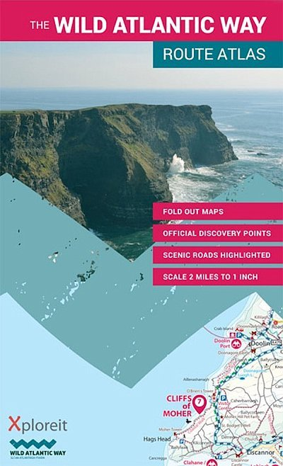 Wild Atlantic Way Route Atlas 9780955265563  Xploreit   Reisgidsen Ierland West- en Zuid