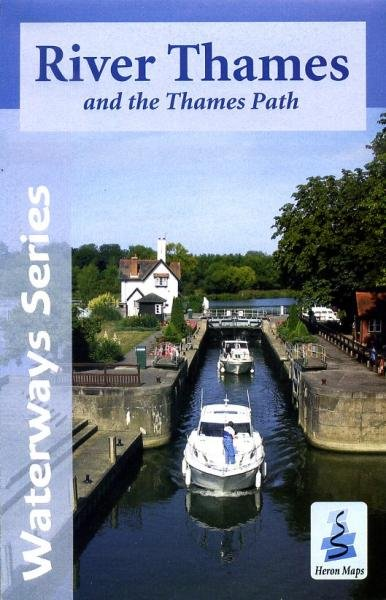 River Thames and the Thames Path map (with cycle routes) 9780956518330  Heron / Sustrans   Fietskaarten Midden- en Oost-Engeland