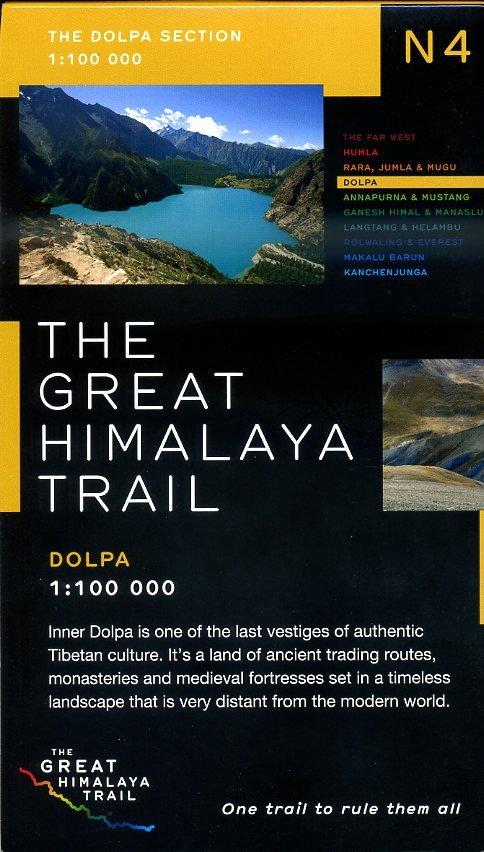 N04 Great Himalayan Trail: Dolpa 9780956981738  Newgrove Consultants Great Himalayan Trail 1:100th.  Wandelkaarten Nepal