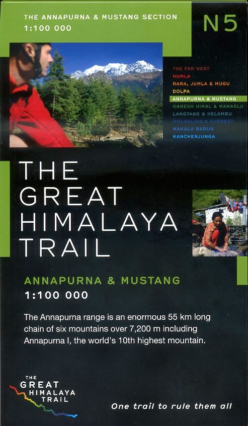N05 Great Himalayan Trail: Annapurna & Mustang 9780956981745  Newgrove Consultants Great Himalayan Trail 1:100th.  Wandelkaarten Nepal