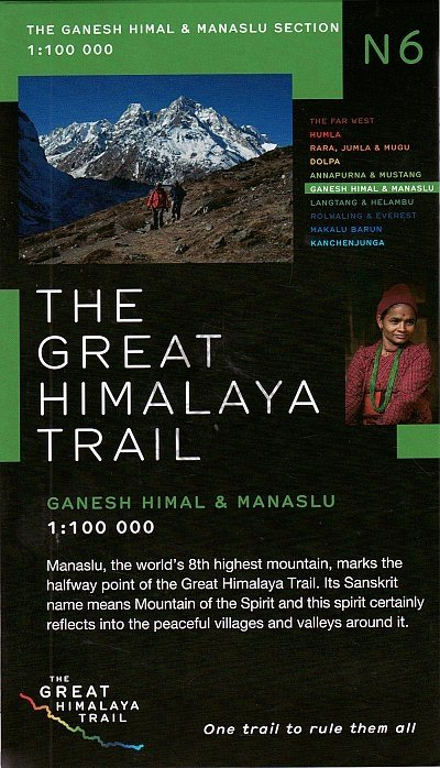 N06 Great Himalayan Trail: Ganesh Himal & Manaslu 9780956981752  Newgrove Consultants Great Himalayan Trail 1:100th.  Wandelkaarten Nepal