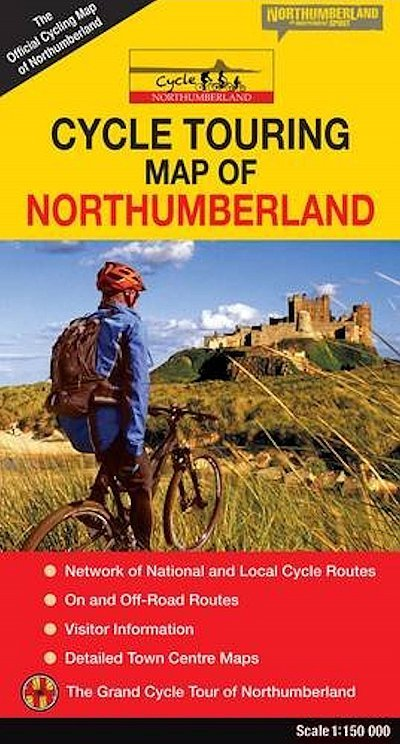 Northumberland Cycle Touring Map 1:150 000 9780993116117  Northern Heritage   Fietskaarten Northumberland, Yorkshire Dales & Moors, Peak District, Isle of Man