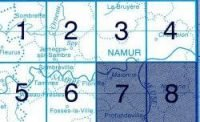 NGI-47/7-8  Profondeville / Namur Sud 9781129302299  NGI Belgie 1:20.000/25.000  Wandelkaarten Wallonië (Ardennen)