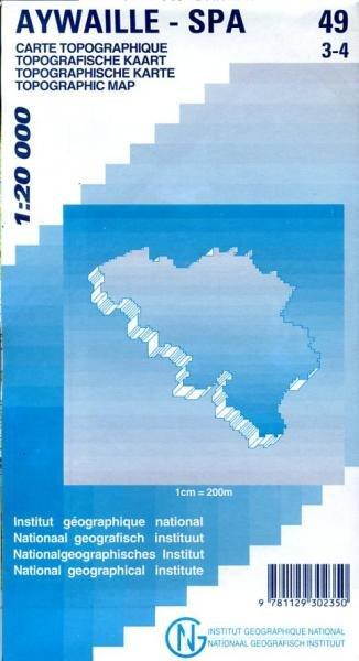 NGI-49/3-4  Aywaille-Spa   topografische wandelkaart 1:20.000 9781129302350  NGI Belgie 1:20.000/25.000  Wandelkaarten Wallonië (Ardennen)
