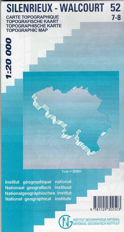 NGI-52/7-8  Silenrieux, Walcourt   topografische wandelkaart 1:20.000 9781129302503  NGI Belgie 1:20.000/25.000  Wandelkaarten Wallonië (Ardennen)