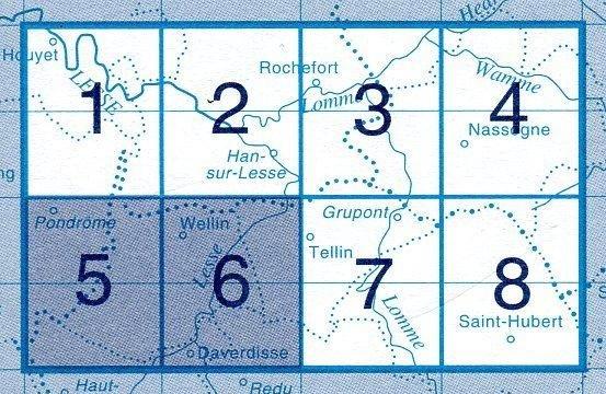 NGI-59/5-6  Pondrome-Wellin   topografische wandelkaart 1:20.000 9781129302817  NGI Belgie 1:20.000/25.000  Wandelkaarten Wallonië (Ardennen)