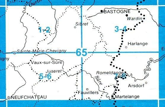 NGI-65/5-6  Neufchateau - Juseret   topografische wandelkaart 1:20.000 9781129303012  NGI Belgie 1:20.000/25.000  Wandelkaarten Wallonië (Ardennen)