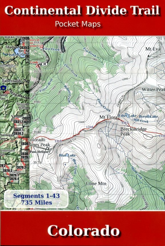 Continental Divide Trail Pocket Maps - Colorado 9781505557336 K Scott Parks Trail Pocket Maps   Meerdaagse wandelroutes, Wandelgidsen Colorado, Arizona, Utah, New Mexico