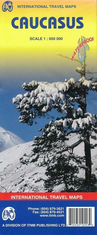 Caucasus | landkaart, autokaart 1:650.000 9781553410553  ITM   Landkaarten en wegenkaarten Kaukasus