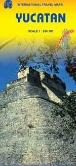Mexico: Yucatan  | landkaart, autokaart 1:500.000 9781553410638  ITM   Landkaarten en wegenkaarten Yucatan, Guatemala, Belize