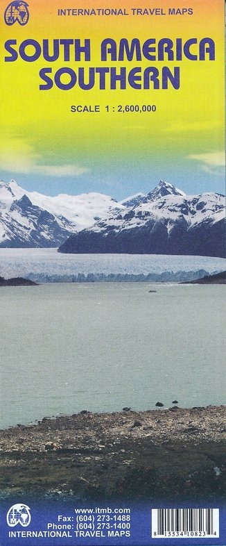 South America/South | landkaart, autokaart 1:2.600.000 9781553410829  ITM   Landkaarten en wegenkaarten Zuid-Amerika (en Antarctica)