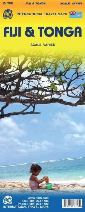 Fiji  & Tonga   landkaart, autokaart 1:555.000 9781553411734  ITM   Landkaarten en wegenkaarten Pacifische Oceaan (Pacific)