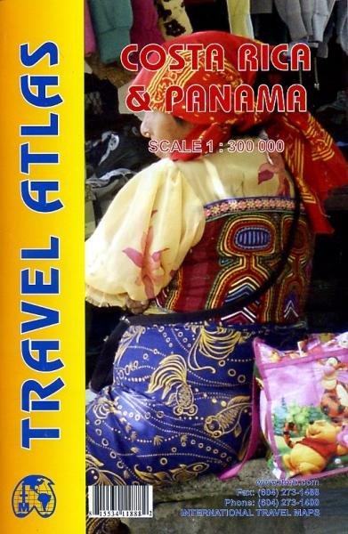 Costa Rica and Panama Travel Atlas 1:300.000 9781553411888  ITM   Wegenatlassen Costa Rica, Overig Midden-Amerika