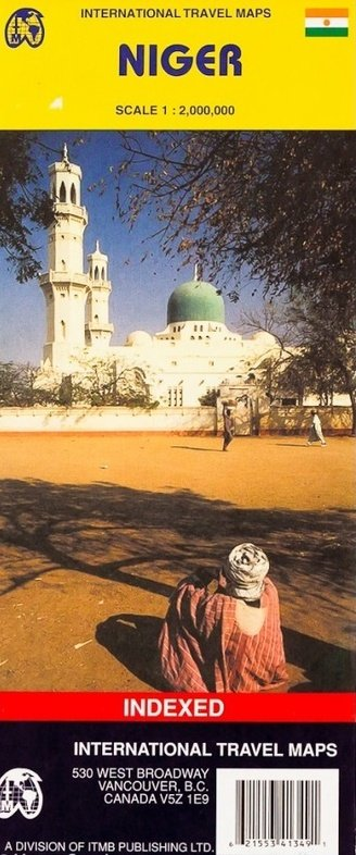 Niger | landkaart, autokaart 1:2.000.000 9781553413493  ITM   Landkaarten en wegenkaarten Sahel-landen (Mauretanië, Mali, Niger, Burkina Faso, Tchad, Sudan, Zuid-Sudan)