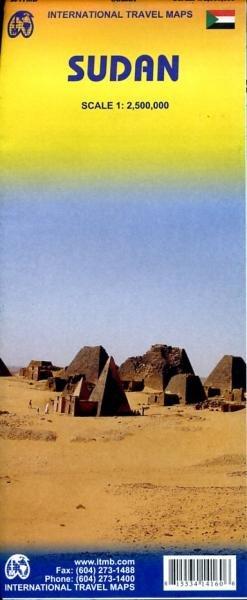 Sudan  | landkaart, autokaart 1:2.700.000 9781553414162  ITM   Landkaarten en wegenkaarten Sahel-landen (Mauretanië, Mali, Niger, Burkina Faso, Tchad, Sudan, Zuid-Sudan)