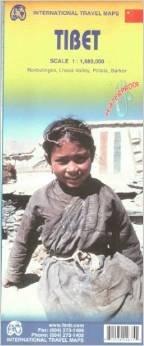 Tibet | landkaart, autokaart 1:1.850.000 9781553414674  ITM   Landkaarten en wegenkaarten Tibet
