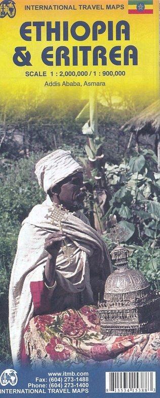 Ethiopia   landkaart, autokaart 1:2.000.000 9781553415381  ITM   Landkaarten en wegenkaarten Ethiopië, Somalië, Eritrea