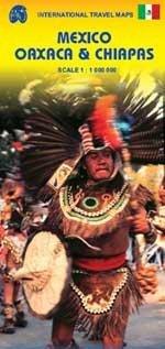 Mexico Oaxaca & Chiapas    landkaart, autokaart 1:1.000.000 9781553415930  ITM   Landkaarten en wegenkaarten Yucatan, Guatemala, Belize