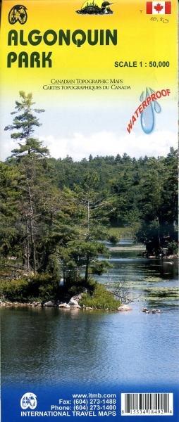 Algonquin Provincial Park 1:50.000 9781553418498  ITM   Wandelkaarten Canada ten oosten van de Rockies
