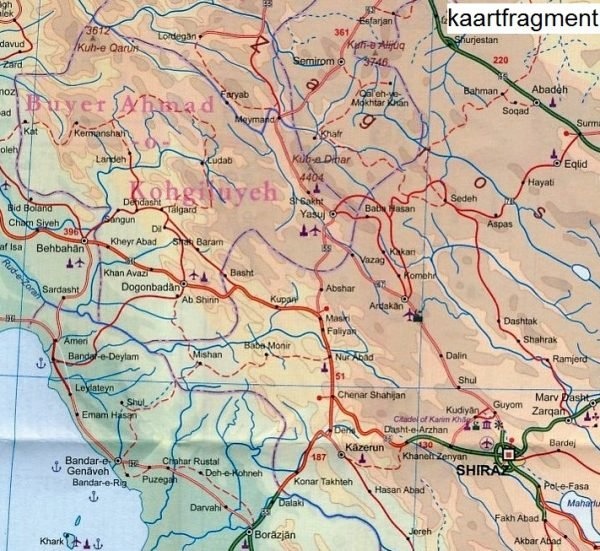Iran | landkaart, autokaart 1:1.800.000 9781553418597  ITM   Landkaarten en wegenkaarten Iran, Afghanistan