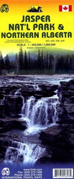 Jasper-NP & Alberta Noordelijk | landkaart, autokaart 1.250d.-1.1000.000 9781553418603  ITM   Landkaarten en wegenkaarten West-Canada, Rockies