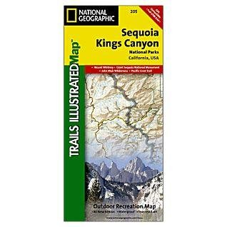 TI205  Sequoia/Kings Canyon N.P. 1:80.000 9781566952989  National Geographic / Trails Illustrated Nat.Park/Recr.Series  Wandelkaarten California, Nevada