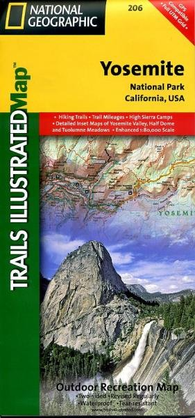 NP206  Yosemite National Park 1:125.000 9781566952996  National Geographic / Trails Illustrated Nat.Park/Recr.Series  Wandelkaarten California, Nevada