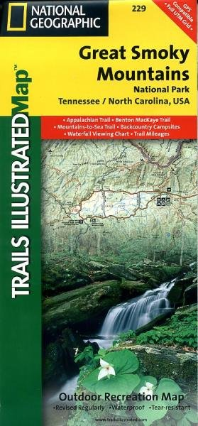 TI229  Great Smoky Mountains N.P. 1:70.000 9781566953016  National Geographic / Trails Illustrated Nat.Park/Recr.Series  Wandelkaarten VS Zuid-Oost, van Virginia t/m Mississippi
